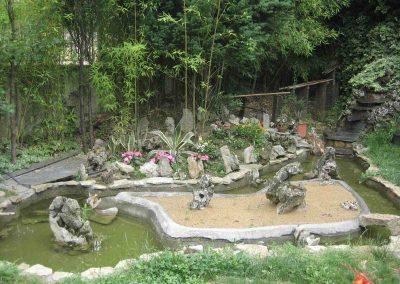 Jardín posterior