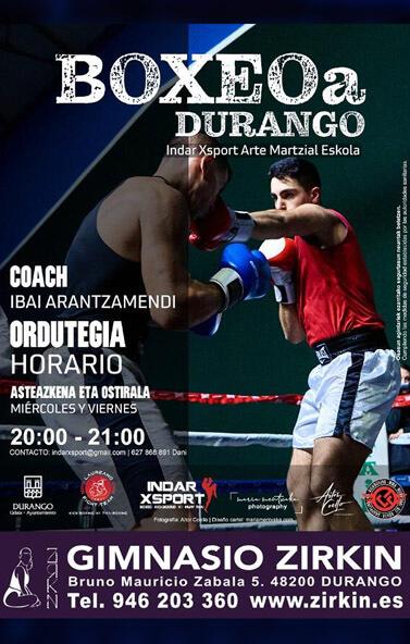 BOXEOa Durango. Coach: Ibai Arantzamendi.